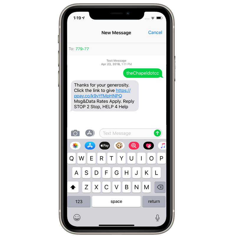 Text Giving Phone